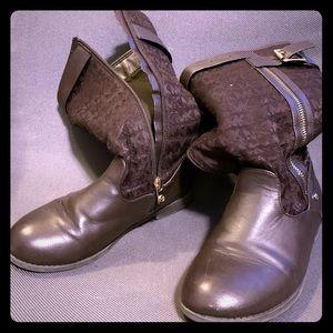 Girls Arizona Chocolate Michael Kors Boots